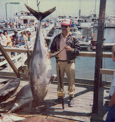 Bud Einstoss with another successful catch of tuna.