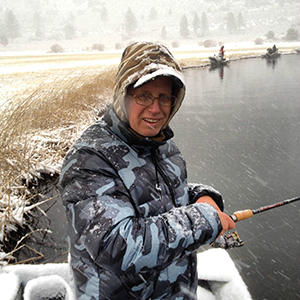 The author bundled up fishing as it snowed last year on the opener. The good fishing made the cold not so bad.