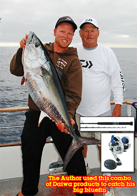 AUTHOR'S BLUEFIN TUNA - Jim Niemiec landed this bluefin tuna during a good bite, fishing waters only 20 miles off Oceanside